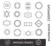 vintage sunburst and frames.... | Shutterstock .eps vector #230099245