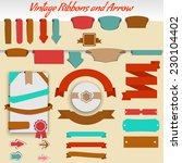 vintage ribbons and arrows of... | Shutterstock .eps vector #230104402