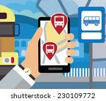 using your smartphone  with...   Shutterstock .eps vector #230109772