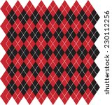 Argyle Black And Red Backgroun...