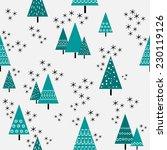 Seamless Christmas Tree Patter...