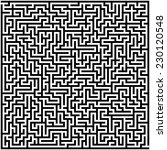 abstract vector labyrinth   Shutterstock .eps vector #230120548