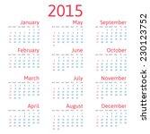 vector calendar 2015 | Shutterstock .eps vector #230123752