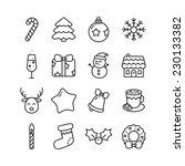 vector christmas flat... | Shutterstock .eps vector #230133382