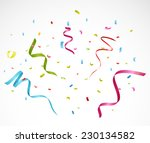 colorful confetti on white... | Shutterstock .eps vector #230134582