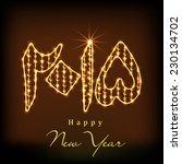 beautiful golden urdu...   Shutterstock .eps vector #230134702