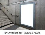 blank billboard located in...   Shutterstock . vector #230137606