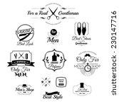 set of vintage barber shop logo ... | Shutterstock .eps vector #230147716