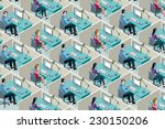 isometric office cubicles. men... | Shutterstock .eps vector #230150206
