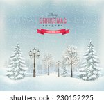 Christmas Winter Landscape With ...