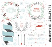 vintage merry christmas and... | Shutterstock .eps vector #230156776