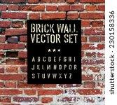 brick traced texture  stencil... | Shutterstock .eps vector #230158336