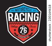 sport racing typography  t... | Shutterstock .eps vector #230164618