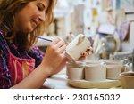 making pottery | Shutterstock . vector #230165032