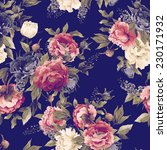 seamless floral pattern with... | Shutterstock . vector #230171932