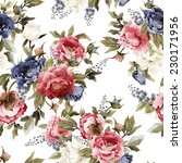 seamless floral pattern with... | Shutterstock . vector #230171956