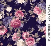 seamless floral pattern with... | Shutterstock . vector #230171962