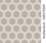Stock vector seamless geometric pattern geometric simple print vector repeating texture linear hexagonal grid 230175265