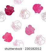 vector rose seamless pattern  | Shutterstock .eps vector #230182012