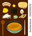 ramen with miso based soup... | Shutterstock .eps vector #230200252