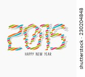 happy new year 2015 celebration ... | Shutterstock .eps vector #230204848