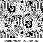 design pattern for fabric.batik ... | Shutterstock .eps vector #230205202