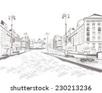 series of street views in the... | Shutterstock .eps vector #230213236