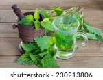 Tea With Fresh Nettles On A...