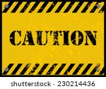 caution  sign   Shutterstock .eps vector #230214436