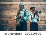 two african american jazz... | Shutterstock . vector #230219902