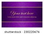 Purple Card With Vintage...