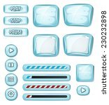 cartoon icy elements for ui...