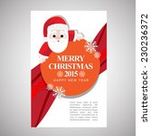 christmas modern business cover ... | Shutterstock .eps vector #230236372