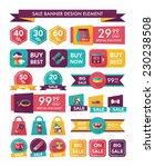 pet sale banner flat design... | Shutterstock .eps vector #230238508