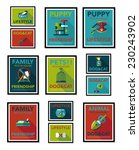 pet poster flat banner design... | Shutterstock .eps vector #230243902