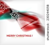 red color christmas blurred... | Shutterstock . vector #230244058