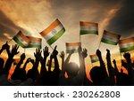 group of people waving indian... | Shutterstock . vector #230262808