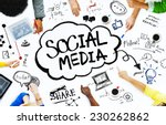 group of people with social... | Shutterstock . vector #230262862