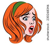 retro style comic woman in a... | Shutterstock .eps vector #230268346