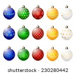 set of decorative christmas... | Shutterstock . vector #230280442
