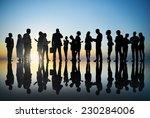 corporate business people... | Shutterstock . vector #230284006