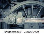 Detail Of Old Steam Locomotive.