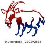 goat. vector image. | Shutterstock .eps vector #230292586