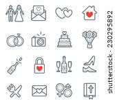 all kinds of wedding marriage... | Shutterstock .eps vector #230295892