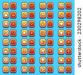 yellow game icons buttons ...