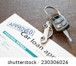 approved car loan application... | Shutterstock . vector #230306026