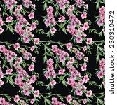 blossoming peach seamless... | Shutterstock . vector #230310472