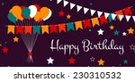 happy birthday card design with ... | Shutterstock .eps vector #230310532