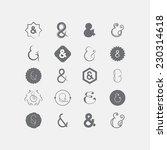 ampersand | Shutterstock .eps vector #230314618