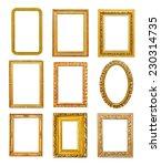 diferent shape golden frames on ... | Shutterstock . vector #230314735